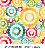 Retro Pattern With Colorful...