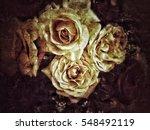 grunge flower background texture | Shutterstock . vector #548492119