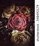 grunge flower background texture | Shutterstock . vector #548492179