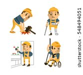 set of construction worker ... | Shutterstock .eps vector #548494051