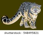 portrait of a snow leopard | Shutterstock .eps vector #548495821