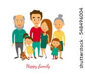 raster illustration. family... | Shutterstock . vector #548496004