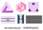 optical illusion set | Shutterstock .eps vector #548496601
