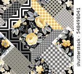 seamless floral patchwork... | Shutterstock .eps vector #548498041