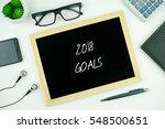 top view of modern office... | Shutterstock . vector #548500651