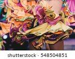 brazilian carnival. dancing in... | Shutterstock . vector #548504851