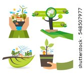 flat design concept for ecology ... | Shutterstock .eps vector #548507977