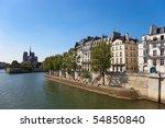 Notre Dame De Paris, gothic cathedral, Seine river, France. - stock photo