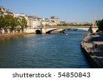 Bridge over the river Seine in Paris, France. - stock photo