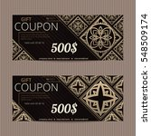 gift voucher in luxury style.... | Shutterstock .eps vector #548509174