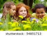 portrait of friendly girls... | Shutterstock . vector #54851713