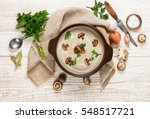 delicious soup puree with... | Shutterstock . vector #548517721