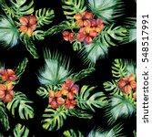 seamless watercolor... | Shutterstock . vector #548517991