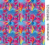 vivid seamless pattern with... | Shutterstock .eps vector #548520121