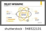 atom percentage chart slide...   Shutterstock .eps vector #548522131