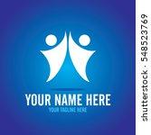 social relationship logo and... | Shutterstock .eps vector #548523769