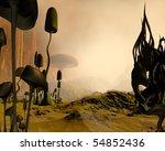 Alien Science Fiction Desert...