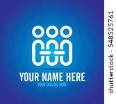 social relationship logo and... | Shutterstock .eps vector #548525761