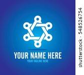 social relationship logo and... | Shutterstock .eps vector #548526754