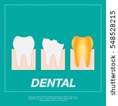 tooth icon flat design style.... | Shutterstock .eps vector #548528215