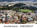 Aerial View Of Athens City In...