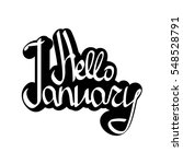 hello january  isolated sticker ... | Shutterstock .eps vector #548528791