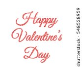 happy valentines day card with... | Shutterstock .eps vector #548528959