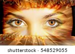 eyes fate. insightful fiery... | Shutterstock . vector #548529055