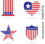 vector version. american... | Shutterstock .eps vector #54852976