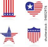 vector version. american... | Shutterstock .eps vector #54852976