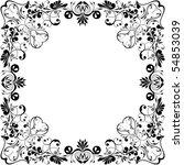 Vectorized Black White Frame...