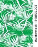 tropical leaves pattern in... | Shutterstock .eps vector #548531005