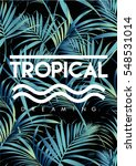 Tropical Print With Text In...