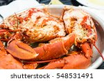Boiled Maine Lobster. Lobster....