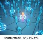 3d render human social network... | Shutterstock . vector #548542591