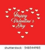 happy valentine's day vector... | Shutterstock .eps vector #548544985
