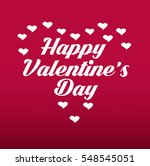 happy valentine's day vector... | Shutterstock .eps vector #548545051