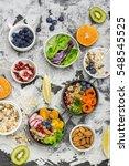 vegetarian quinoa bowl. healthy ... | Shutterstock . vector #548545525