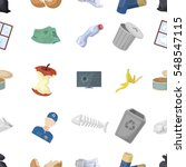 trash and garbage pattern icons ... | Shutterstock .eps vector #548547115