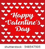 happy valentines day lettering... | Shutterstock .eps vector #548547505