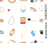 jewelry and accessories pattern ... | Shutterstock .eps vector #548548255