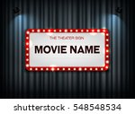 theater sign on curtain and... | Shutterstock .eps vector #548548534