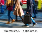 people walking on a shopping... | Shutterstock . vector #548552551