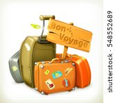 bon voyage  travel icon. raster ... | Shutterstock . vector #548552689