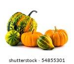 Mini Pumpkins Isolated On A...