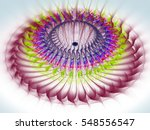 colored abstract fractal... | Shutterstock . vector #548556547