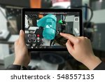 industrial 4.0   augmented... | Shutterstock . vector #548557135