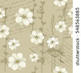seamless floral background.... | Shutterstock .eps vector #548563885