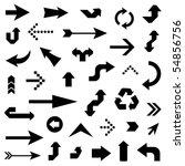 lots of black arrows   Shutterstock .eps vector #54856756