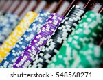 casino chips colorful gaming... | Shutterstock . vector #548568271